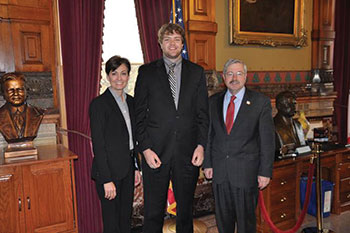 Central Pre-Law student with former Iowa Governor Terry Branstad