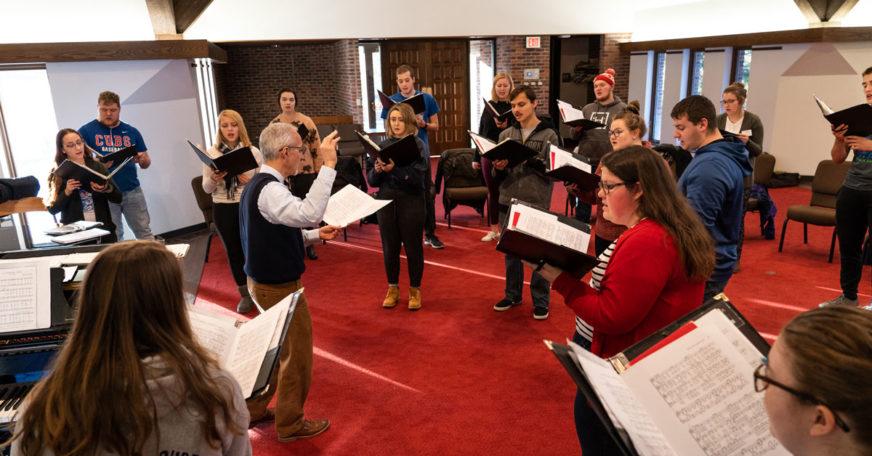 Choir rehearsal in The Chapel