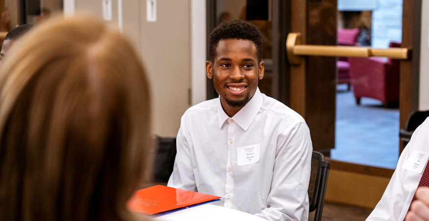 A student at Scholar Day