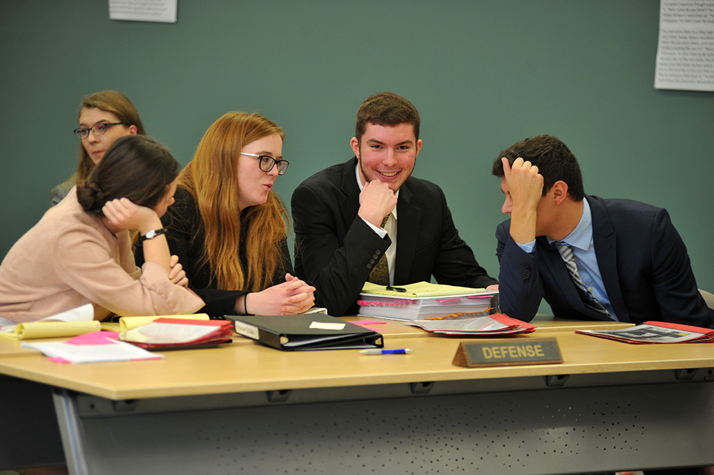Central College Mock Trial Students