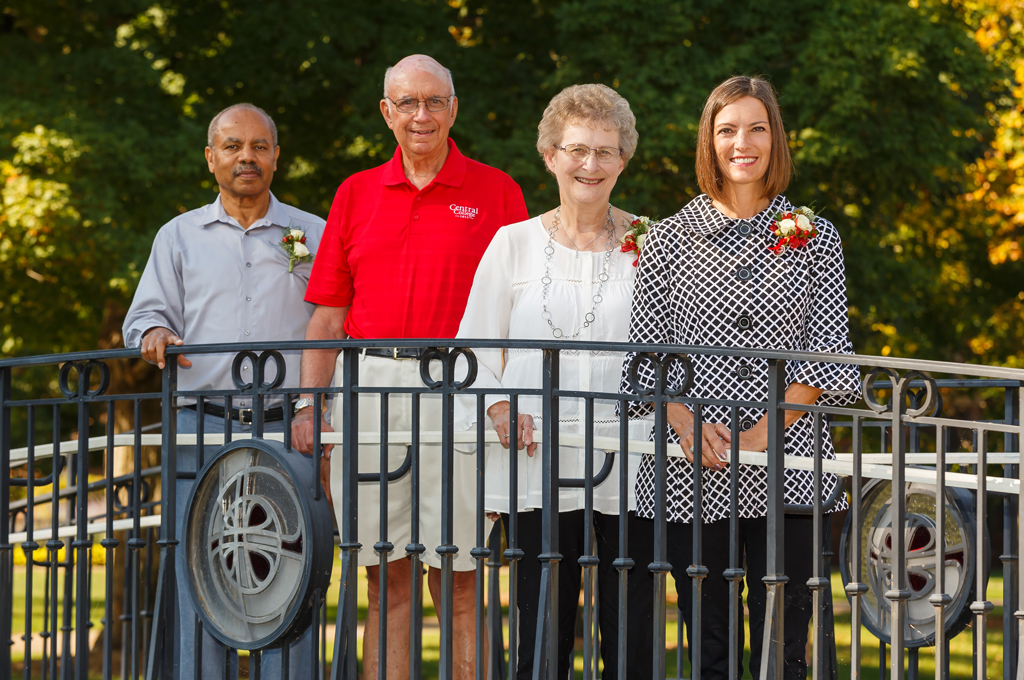 2017 Alumni Award winners pictured from left to right: Ammanuel Mehreteab '70,Richard '62 and Mary Roorda Glendening '62,Kellie Gorsche Markey '88.
