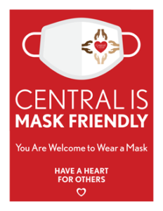 """Preview of """"Mask Friendly"""" sign. Click to download"""